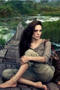 Angelina Jolie On Boat