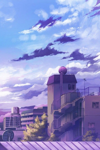 1125x2436 Anime City Hd