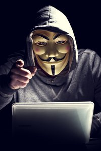 640x960 Anonymus Hacker In Mask Pointing Finger