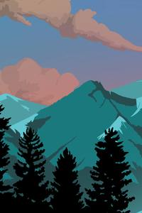 320x480 Appalachia Mountain 8k Illustration
