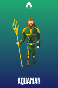320x480 Aquaman Illustration 4k