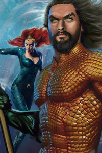Aquaman Mera Art