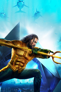 1080x2160 Aquaman Movie New Poster 2018