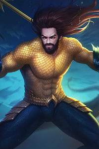1080x2160 Aquaman Ready For War