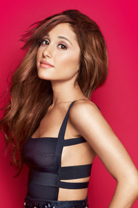 540x960 Ariana Grande In Black Dress 5k
