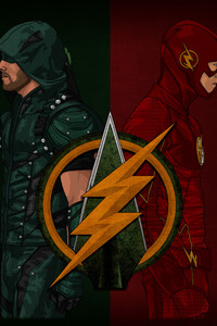 Arrow Flash Artwork 4k