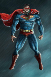 1080x2160 Art Superman