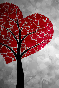 540x960 Artistic Heart Tree