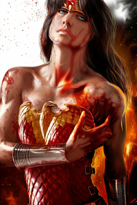 540x960 Artwork Wonder Woman Bleeding