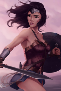 1080x2160 Artworks Of Wonder Woman