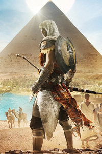 640x1136 Assassins Creed Origins Bayek 4k