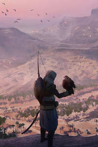 750x1334 Assassins Creed Origins Game Artwork