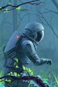 Astronaut Lost In Woods