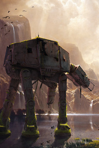 AT AT Walker Star Wars Artwork