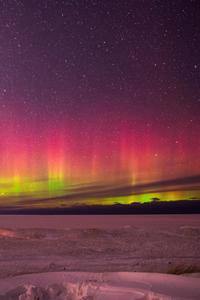640x1136 Aurora Borealis In Marquette Michigan