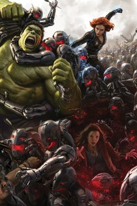 Avengers Age Of Ultron Art Work