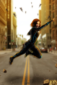 750x1334 Avengers Age Of Ultron Black Widow Artwork