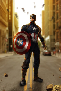 750x1334 Avengers Age Of Ultron Captain America Artwork