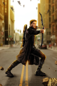 750x1334 Avengers Age Of Ultron Hawkeye Artwork