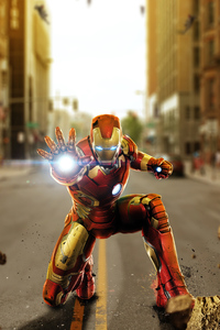 750x1334 Avengers Age Of Ultron Iron Man Artwork