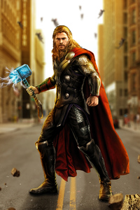750x1334 Avengers Age Of Ultron Thor Artwork
