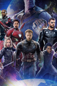 320x568 Avengers Infinity War 2018 All Characters Poster
