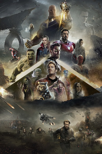 800x1280 Avengers Infinity War 2018 Poster Fan Made