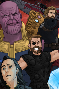 360x640 Avengers Infinity War Artwork