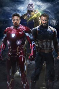 Avengers Infinity War Captain America Iron Man Thanos