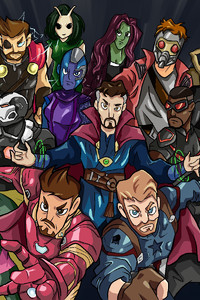 800x1280 Avengers Infinity War Hero Side Fan Art