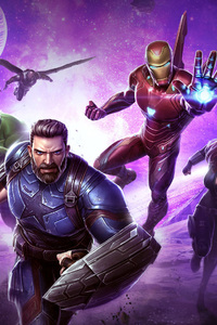 1125x2436 Avengers Infinity War Marvel Contest Of Champions 2018
