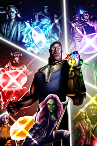 Avengers Infinity War Poster Digital Painting