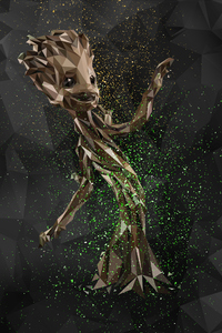 360x640 Baby Groot Abstract Digital Art