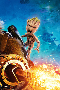 Baby Groot And Rocket Raccoon Guardians Of The Galaxy Vol 2 4k 8k
