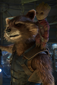 Baby Groot And Rocket Raccoon In Guardians of the Galaxy Vol 2