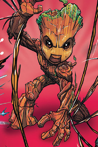 Baby Groot Artwork HD