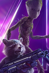 Baby Groot In Avengers Infinity War New Poster