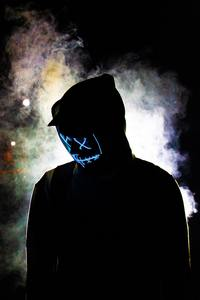 480x854 Backlit Mask Hoodie Guy 5k