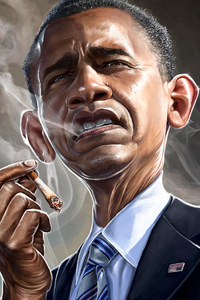 1125x2436 Barack Obama Smoking 5k
