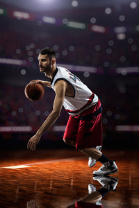 750x1334 Basketball Player 8k