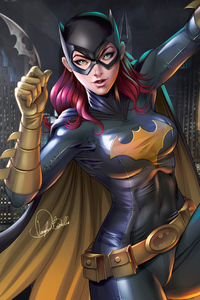320x480 Batgirl Digital Artwork