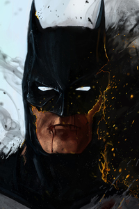 1080x2160 Batman On Fire