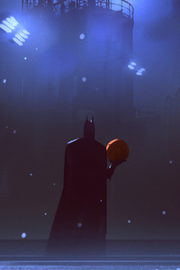 Batman Playing Basketball