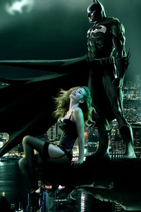 1080x2280 Batman Seeing Gotham With Girl 4k