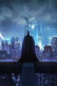 480x854 Batman Standing On The Rooftop