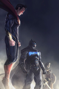Batman Superman Wonder Woman Artwork 4k