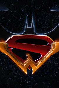 750x1334 Batman Superman Wonder Woman Trinity Logo