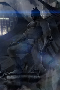 320x568 Batman Vs Superman Day Vs Night Art