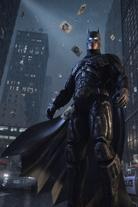 480x854 Batman Watching Gotham City