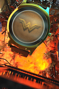 1080x2280 Batman Wonder Woman Flash Smartwatch Hero